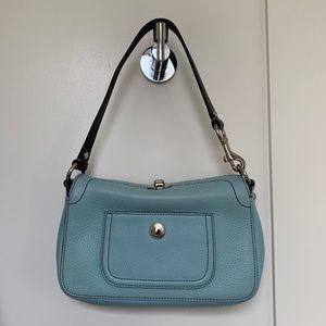 Coach mini handbag, baby blue color, NWT